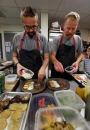 Dan Jacobs (left), shown with Dan Van Rite, will do a cooking demonstration at the Wine & Food Experience on Sept. 22. Jacobs and Van Rite are co-chefs and co-owners of DanDan and Ester Ev restaurants.