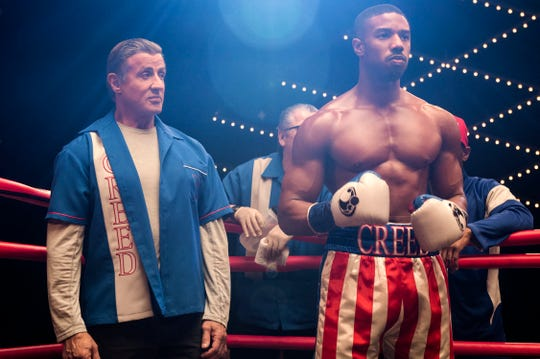 """Rocky Balboa (Sylvester Stallone, left) is back in Adonis Creed's (Michael B. Jordan) corner for """"Creed II."""""""