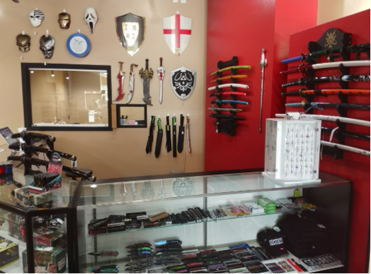 Swords, knives and all kinds of  collectibles are offered at the newly opened Just Not Salt & Pepper in Greenfield.
