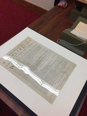 Erik Jappinen got to see one of 25 original copies of the Declaration of Independence during his time at Monticello.