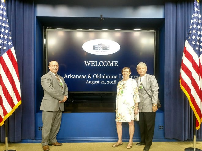 Baxter County officials (from left) County Judge Mickey Pendergrass, Justice of the Peace Edna Fusco and Justice of the Peace Lucille Soltysik recently visited Washington, D.C. to meet with federal officials.