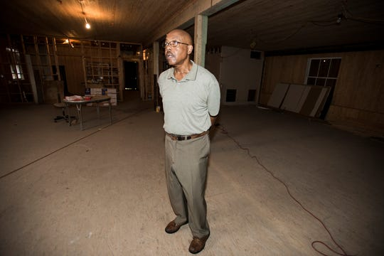 Charles Everett, president of the Mt. Zion Center Foundation, talks inside the basement of the Mount Zion AME Zion Church in Montgomery, Ala., on Thursday, Aug. 30, 2018. The church is under renovations to become a museum.
