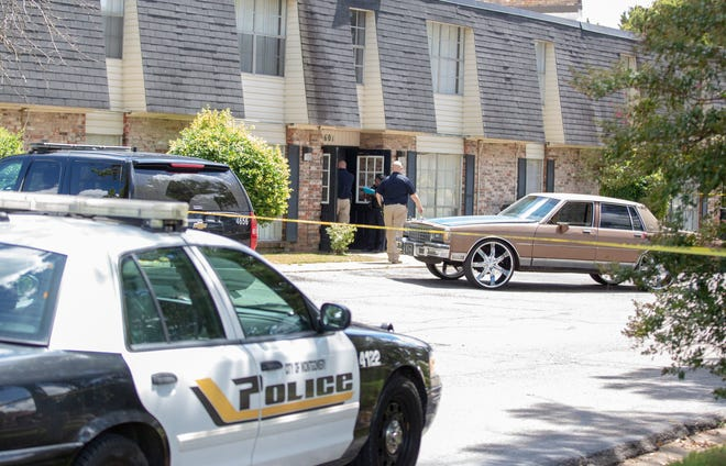 Montgomery police were investigating after a man was shot at an apartment on Narrow Lane Road.