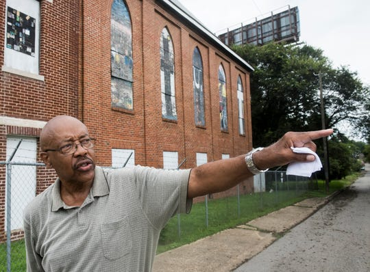 Charles Everett, president of the Mt. Zion Center Foundation, talks outside of the Mount Zion AME Zion Church in Montgomery, Ala., on Thursday, Aug. 30, 2018. The church is under renovations to become a museum.