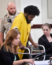 Lacory Lytle, one of the three people police have linked to a series of shootings across Nashville this month, appears in court for a preliminary hearing