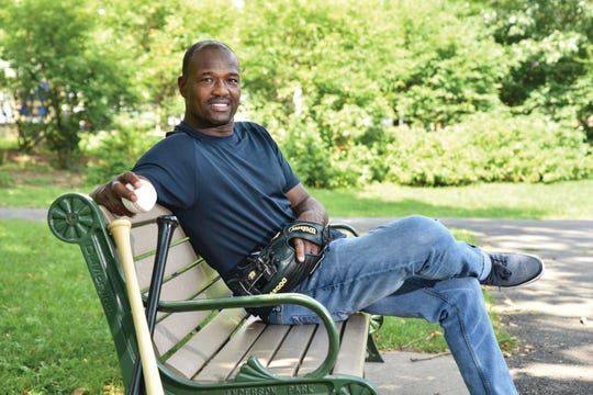 Montclair resident Harold Reynolds relaxes at Anderson Park in Upper Montclair.
