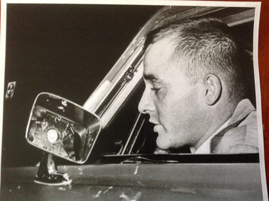 Peter Bridge, covering the Newark riot for the Newark Evening News in 1967.
