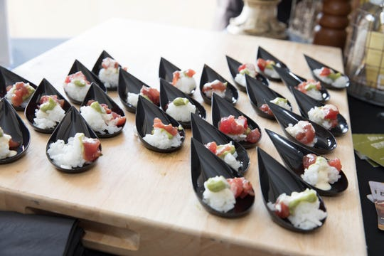 Just some of the eats at the Bergen County Food & Wine Festival