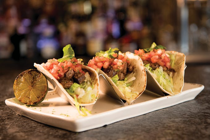 Street tacos at Maggie's Town Tavern in Wayne, NJ shown on Thursday May 31, 2018.