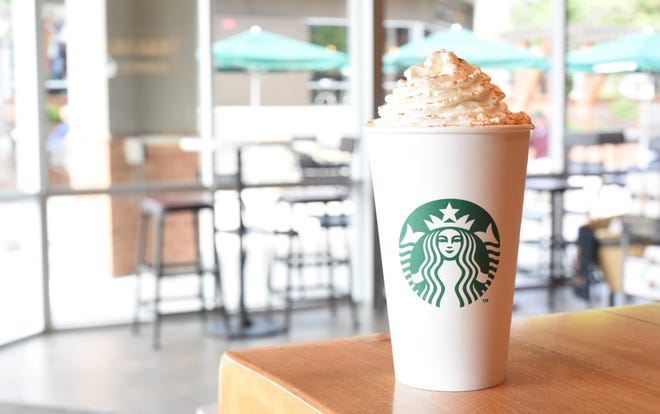 A Starbucks Pumpkin Spice Latte with whole milk and whipped cream has 510 calories and 21 grams of fat, so get jogging!