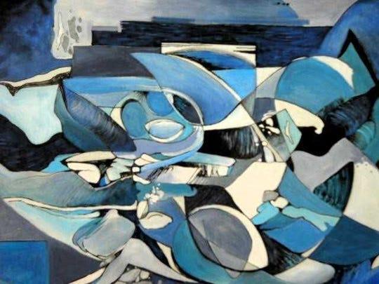 """""""Rhapsody in Blue"""" by Flo Hosa Dougherty"""