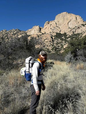Dan Carter, one of two embarking on the first hike of the 500-mile Rio Grande Trail.