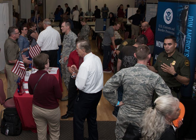 Hiring Our Heroes, created for Airmen transitioning to civilian life, was open to military members and civilians on base Aug. 9. Approximately 140 attended the Holloman community activity center for the event.