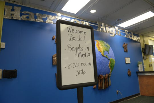 Teachers are welcomed back Aug. 27 for the first day of their last year of teaching at Harrison High School.