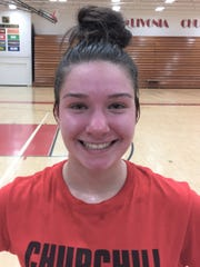 Junior outside hitter Sarah Dunn returns for Livonia Churchill, which reached the Class A regional final last season.
