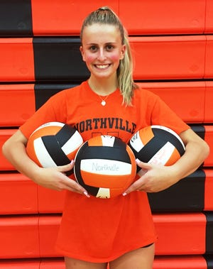 Northville senior Hannah Grant, a Michigan State signee, leads the All-Kensington Lakes girls volleyball honorees.