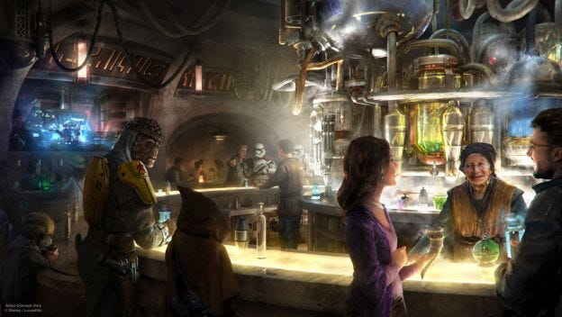 """When """"Star Wars: Galaxy's Edge"""" opens at Disneyland next summer, it will include a cantina where alcohol will be sold -- a first for the 63-year-old theme park in Anaheim."""