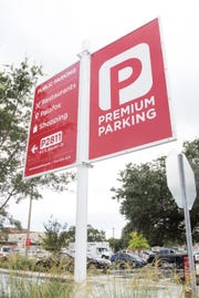 Premium Parking lot on S Baylen Street in downtown Pensacola on Thursday, August 30, 2018.