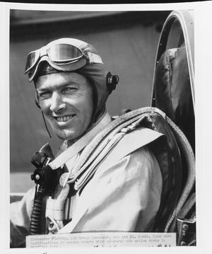 Cmdr. James H. Flatley commanded Air Group 5 off the USS Yorktown during the attack on Marcus Island in World War II.