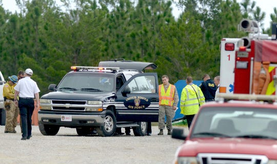Eglin officials confirmed that multiple people died after a plane crashed on the Eglin reservation Thursday, Aug. 30, 2018.