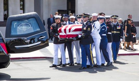 John McCain Memorial Service At North Phoenix Baptist Church