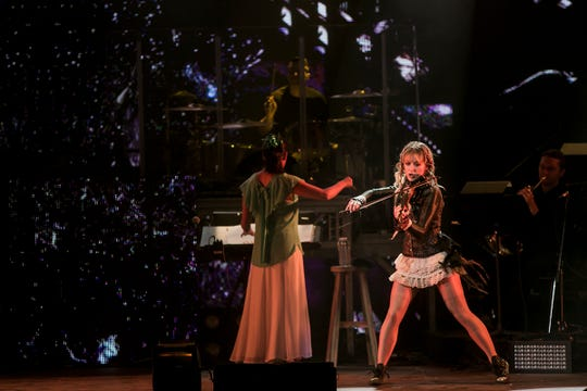 Lindsey Stirling performs at Ak-Chin Pavilion Wednesday, Aug. 28, 2018, in Phoenix.
