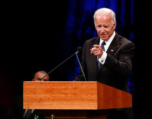 Joe Biden, McCain memorial