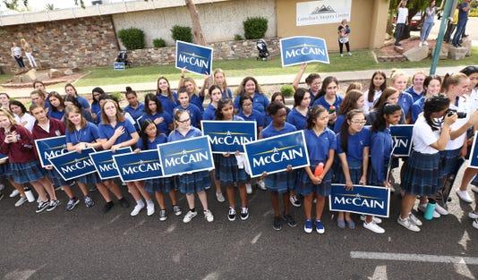 John Mccain Depart Arizona For The Last Time