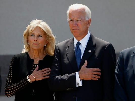 McCain memorial, Joe Biden, Jill Biden