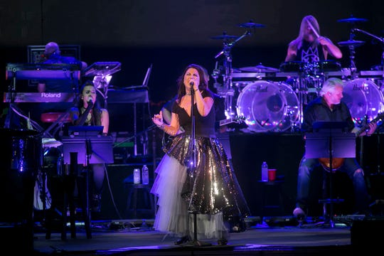 Evanescence opens for Lindsey Stirling at Ak-Chin Pavilion Wednesday, Aug. 28, 2018, in Phoenix.