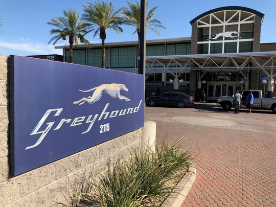 Greyhound bus station in Phoenix