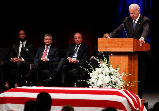 Joe BIden, McCain memorial
