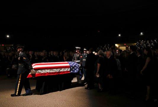 McCain's casket North Phoenix Baptist Church