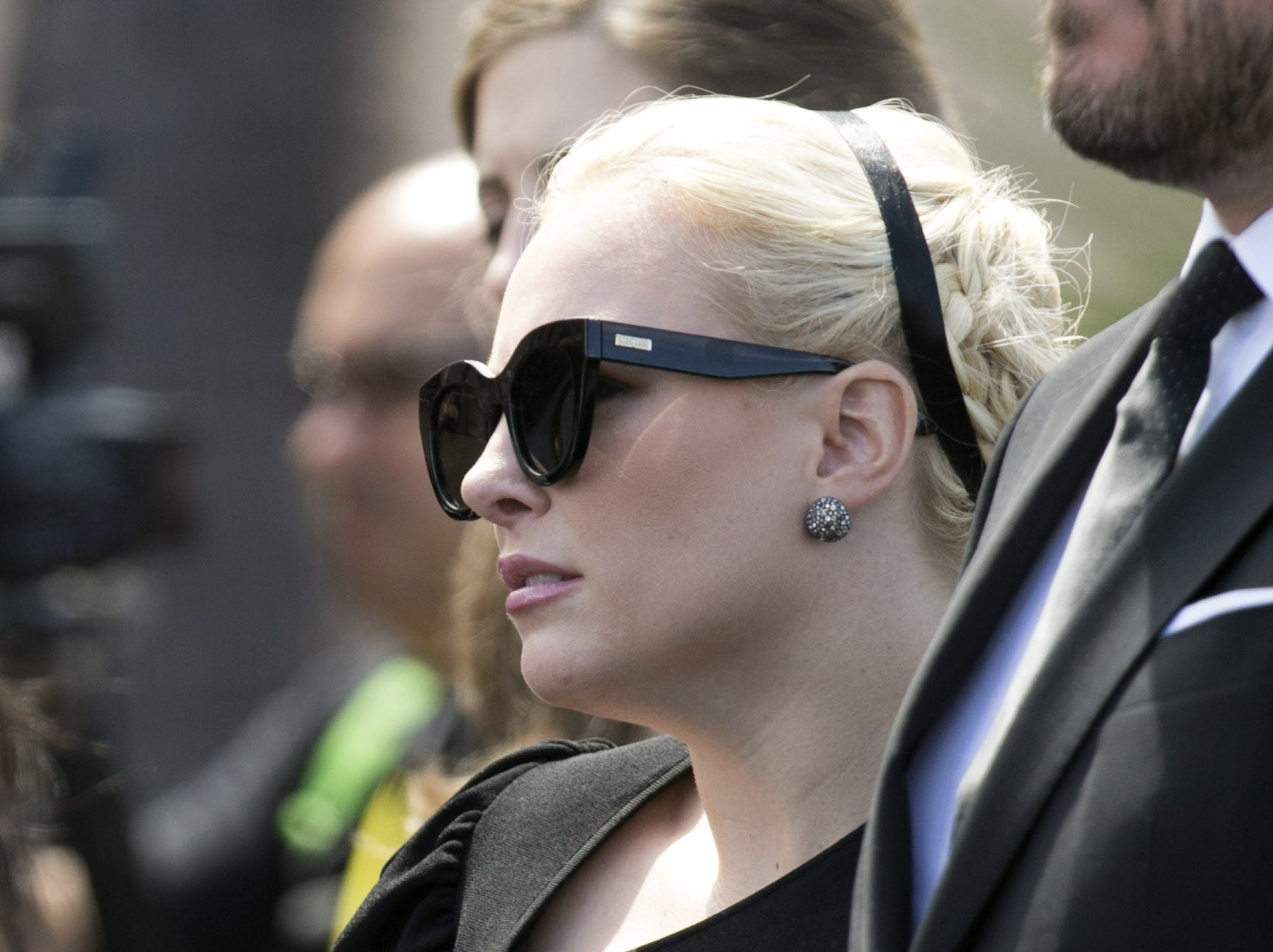 Senator John McCain's daughter, Meghan McCain, looks on following a memorial service for Senator McCain at North Phoenix Baptist Church in Phoenix, Aug. 30, 2018.
