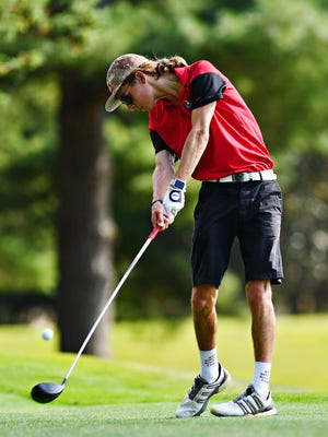 Spencer Beran, seen here in a file photo, fired a 78 on Tuesday to help Susquehannock to a first-place finish in a York-Adams Division II golf match at Pleasant Valley Golf Club. The Warriors are now alone in first place in the division. DISPATCH FILE PHOTO