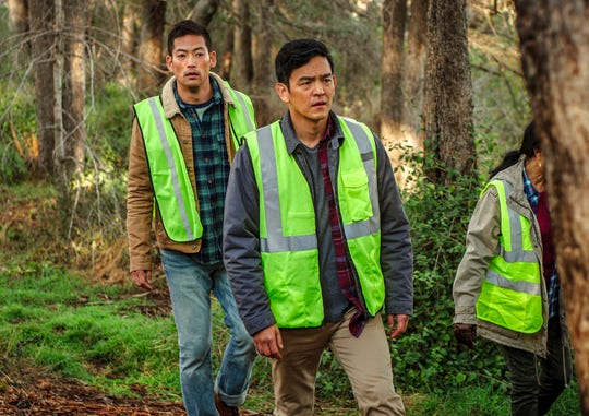 "From left,  Joseph Lee and John Cho star in ""Searching."" The movie is playing at Frank Theatres Queensgate Stadium 13."