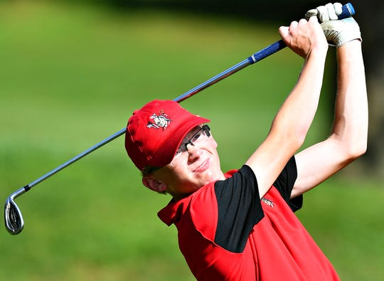 Andrew Roberts, seen here in a file photo, won the Boys' 15-18 Blue Division on Monday during a York County Junior Golf Association stop at The Bridges Golf Club near Abbottstown. Roberts fired a 5-over-par 77 for his third win of the season.