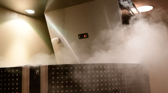 The cryotherapy chamber at York Medical Spa plummets to a frigid -220 degrees to aid with muscle soreness and recovery.