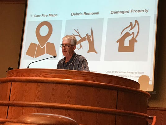 Carr Fire public meeting Brian Crane