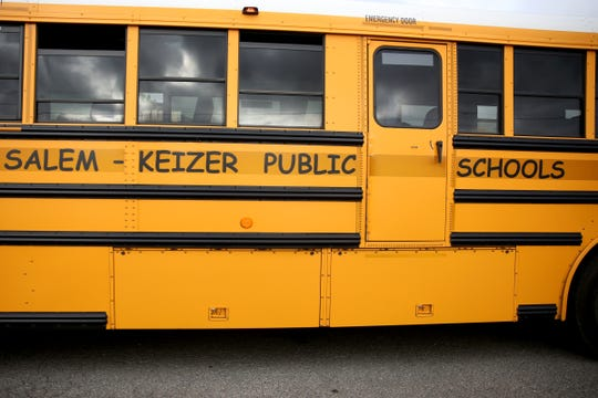 A school bus for Salem-Keizer Public Schools in Salem on Monday, Aug. 27, 2018. Classes begin Sept. 4 and 5.