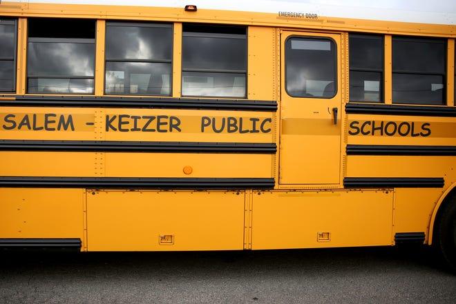 A school bus for Salem-Keizer Public Schools in Salem on Monday, Aug. 27, 2018. Classes begin Sept. 4 and 5.