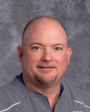 Brock head football coach Chad Worrell