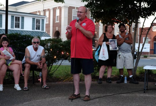 Georgetown Mayor Bill West spoke during a candlelight vigil Wednesday for those impacted by drug addiction.