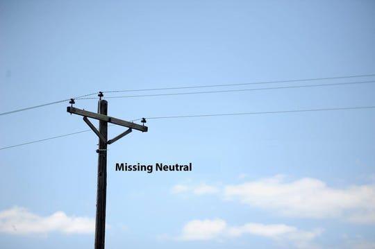 This photo illustration shows missing wiring that thefts are stealing for scrap metal in Accomack and Northampton counties, investigators said.