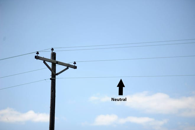 This photo illustration shows the wiring that thieves are stealing for scrap metal in Accomack and Northampton counties, investigators said.