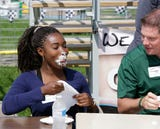 Sheboygan Press' Marina Affo decided to try the cream puff eating contest at the Sheboygan County Fair.