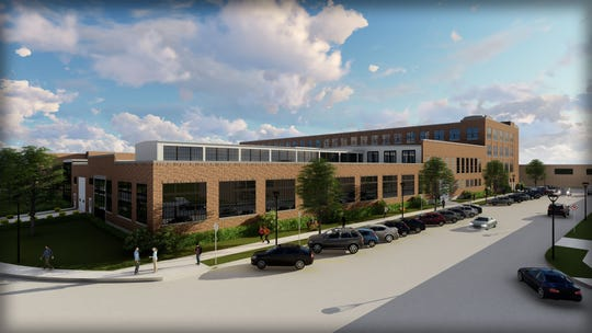 A rendering of the new Badger State Lofts on Maryland Ave. The project is the result of Sheboygan being awarded two state tax credits for housing. The developer hopes to begin construction this year and open by 2020.