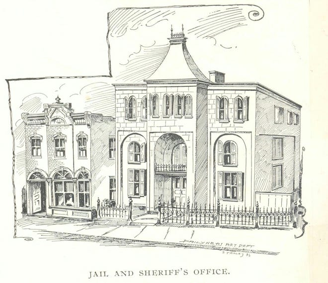 Neither the Augusta County jail (shown in this 1896 drawing for the Staunton Daily News) nor state lockups could contain the Jesse James of Augusta County when he made up his mind he didn't want to be there.