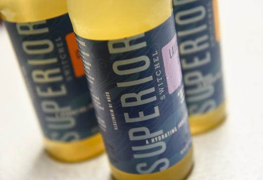 Bottles of Superior Switchel are pictured Wednesday, Aug. 29, in St. Cloud.