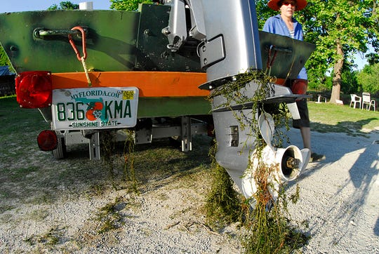 Boaters can easily move fragments of invasive, exotic, aquatic plants on trailers and props. Clean – Drain – Dry.
